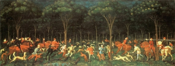 Twelve Huntsmen hunt Paolo Uccello