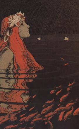 sea-maiden-mermaid-in-the-pool-with-goldfish-franz-hein-1904