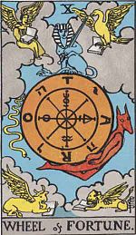 Catherine and her destiny Wheel Tarot