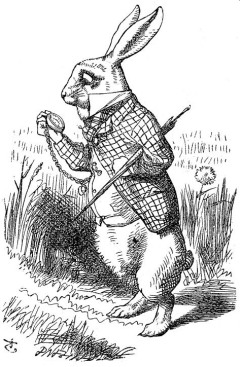 iron stove tenniel white rabbit