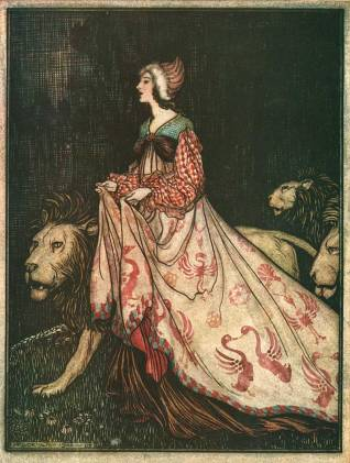 Singing Springing Arthur_Rackham_The_Lady_and_the_Lion